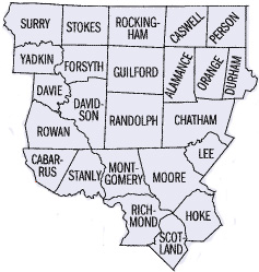 NCMD Counties | Middle District of North Carolina | United